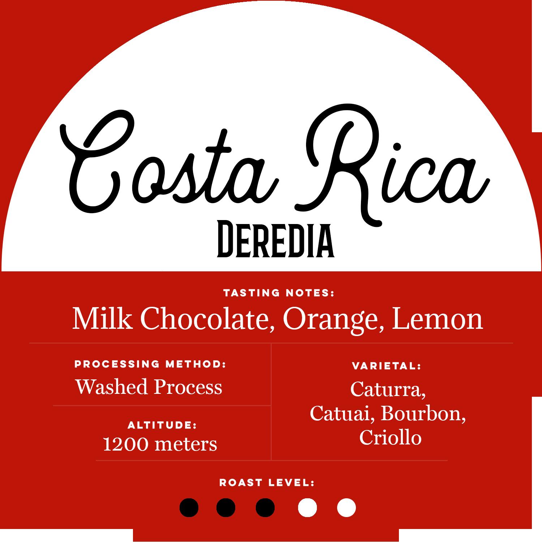 Costa Rica Deredia - Patriot Coffee Roaster - Central Florida